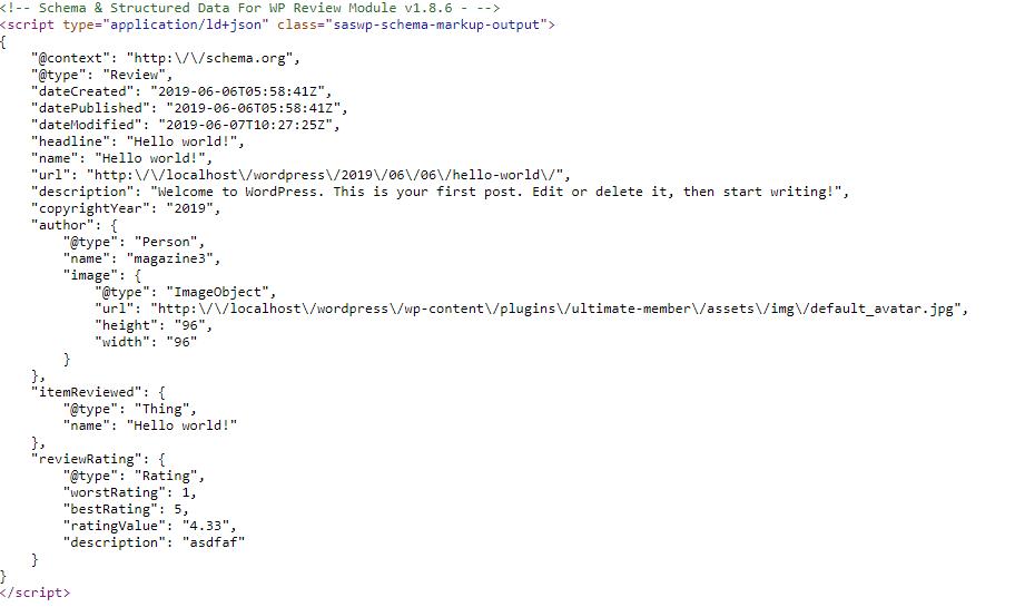 Schema Structured Data
