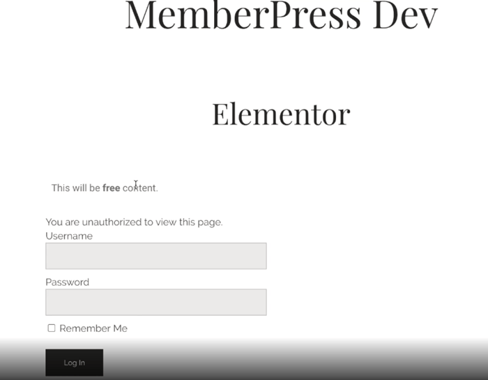 restricted content login to view for membership sites