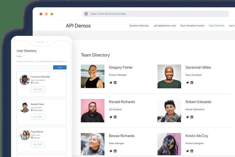 team directory plugin