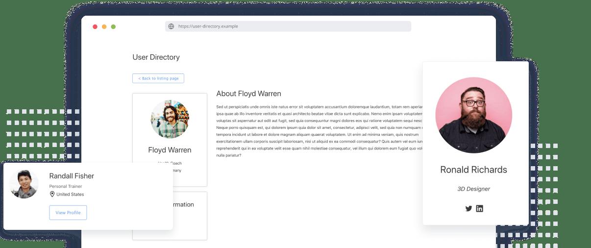 user directory plugin