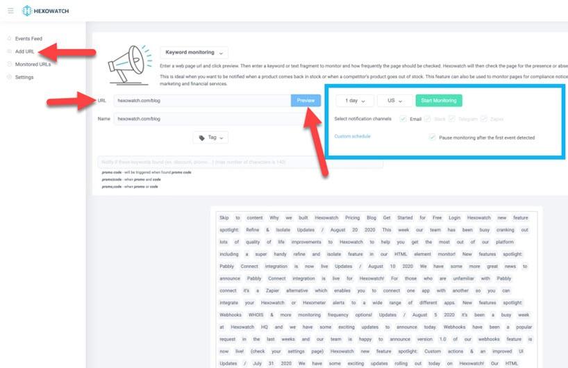 hexowatch reviews keyword monitoring