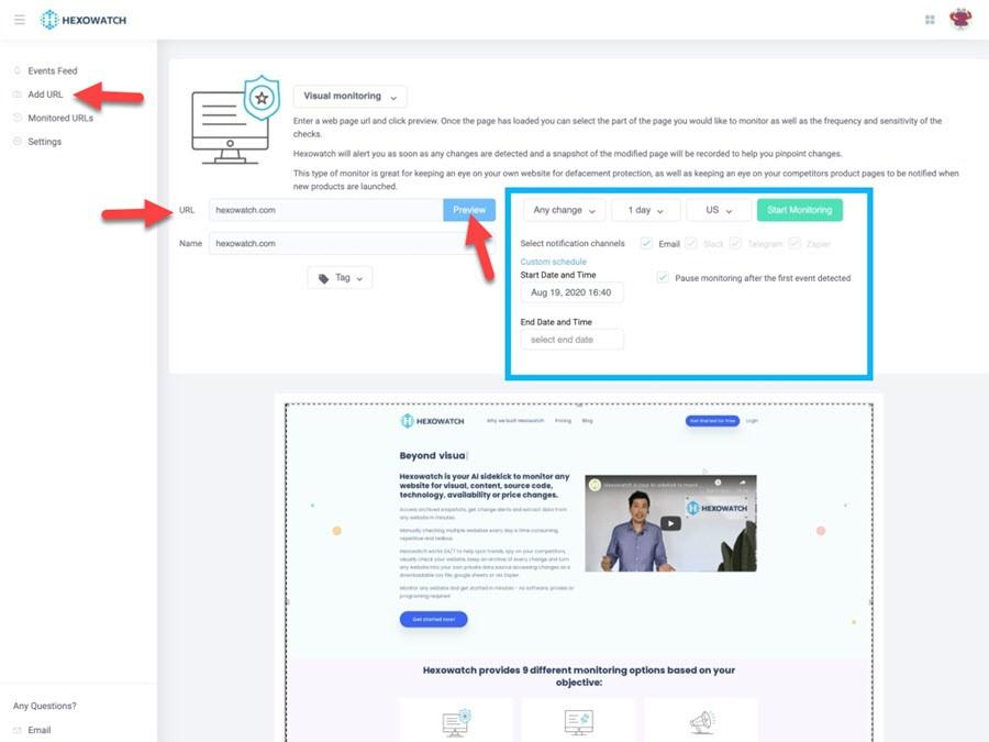 hexowatch reviews visual monitoring