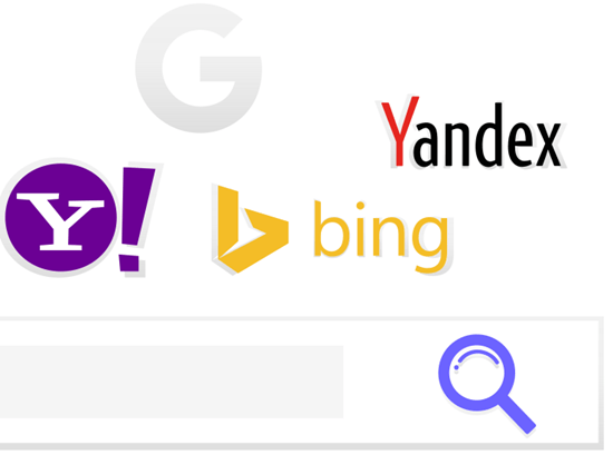 search engines yahoo bing google yandex