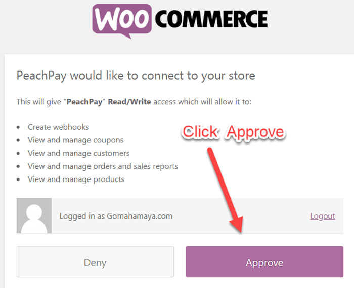 connect peachpay with woocommerce to your store