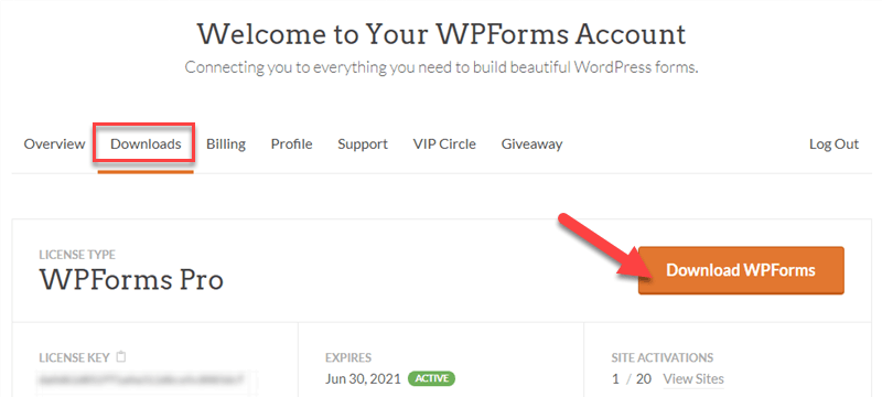 Download WPForms Pro