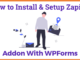 How to Install and Setup Zapier Addon For WPForms