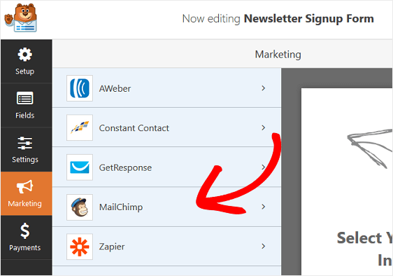 Newsletter Signup Mailchimp Subscribe Form Marketing Settings