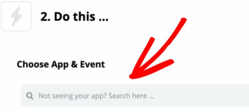 Zapier Do This choose app and events