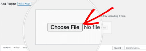 plugin upload plugin choose file