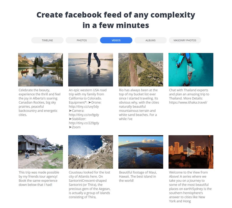 10Web Facebook Feed Widgets Demo