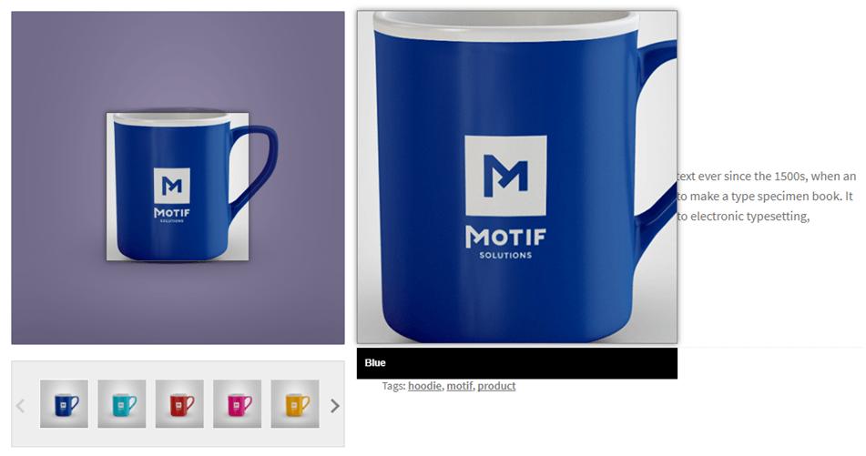 Blue Coffee Mug Image Zoom Product Show Case