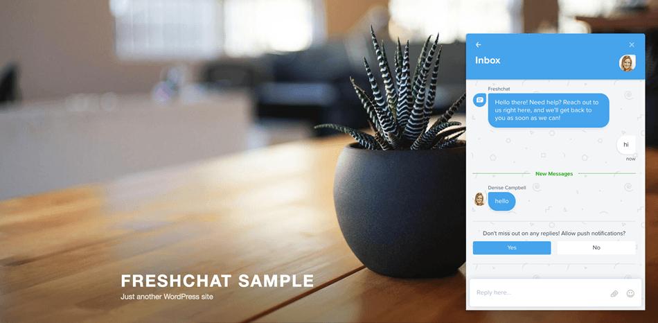 Chat Widget With Conversation Demo