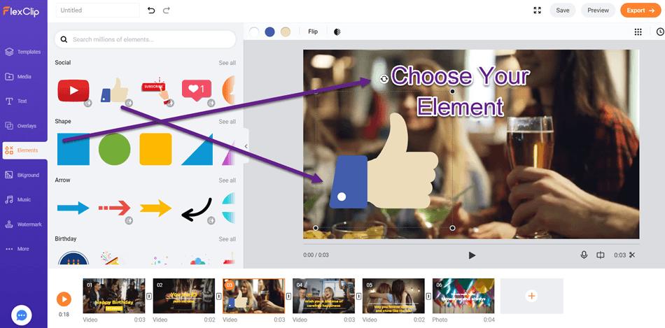 Choose Your Element Flexclip