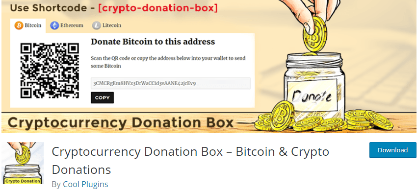 Cryptocurrency Donation Box