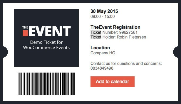Demo Ticket For Woocommerce Events