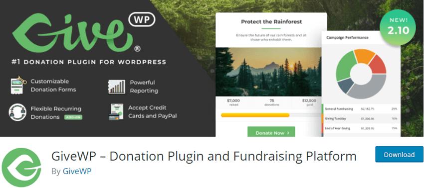 GiveWP Donation Plugin and Fundraising Platform