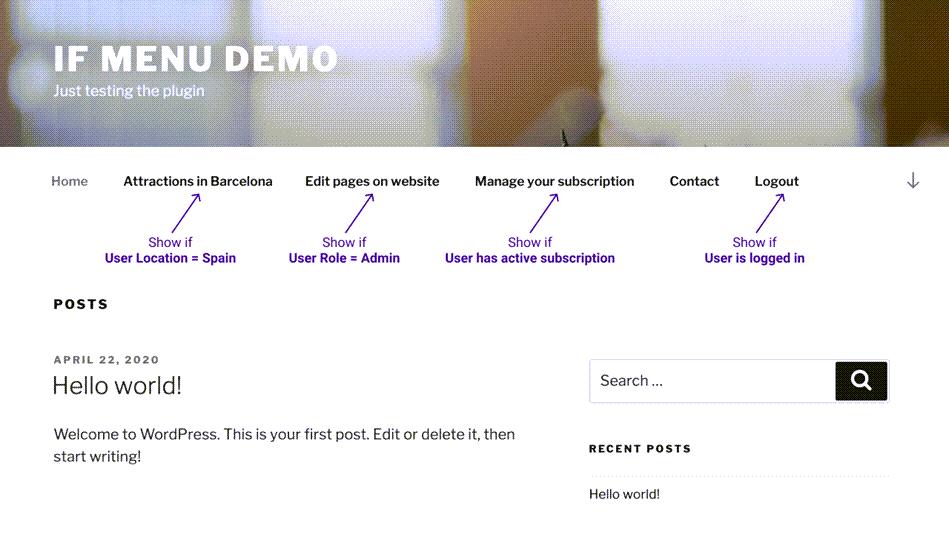 If Menu Website Demo