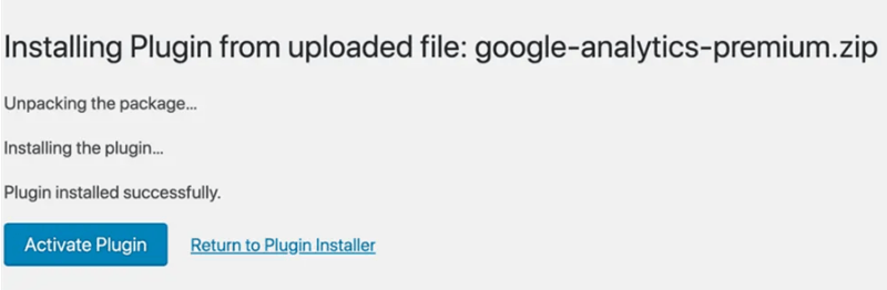 Installing unpacking and activating the plugin
