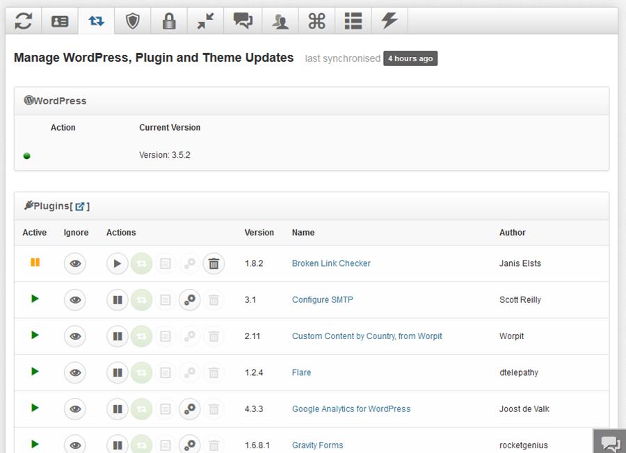Manage WordPress, Plugin And Theme Updates