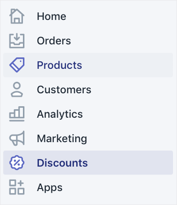 SHOPIFY DASHBOARD CLICK ON DISCOUNTS