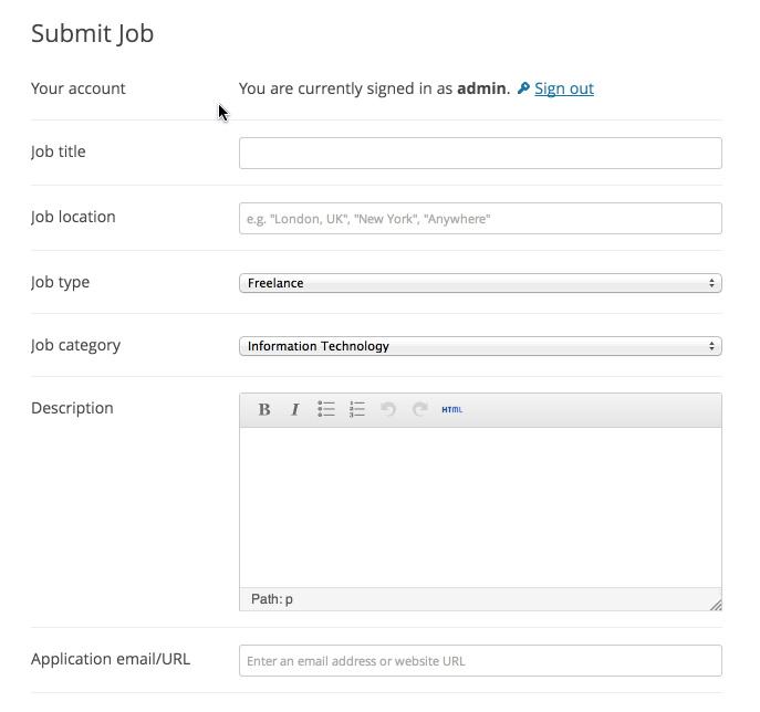 Submit Your job Demo
