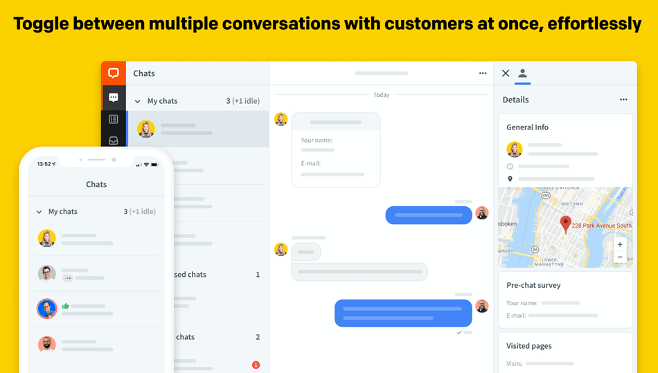 Toggle Between Multiple Conversation With Customer At Once Demo