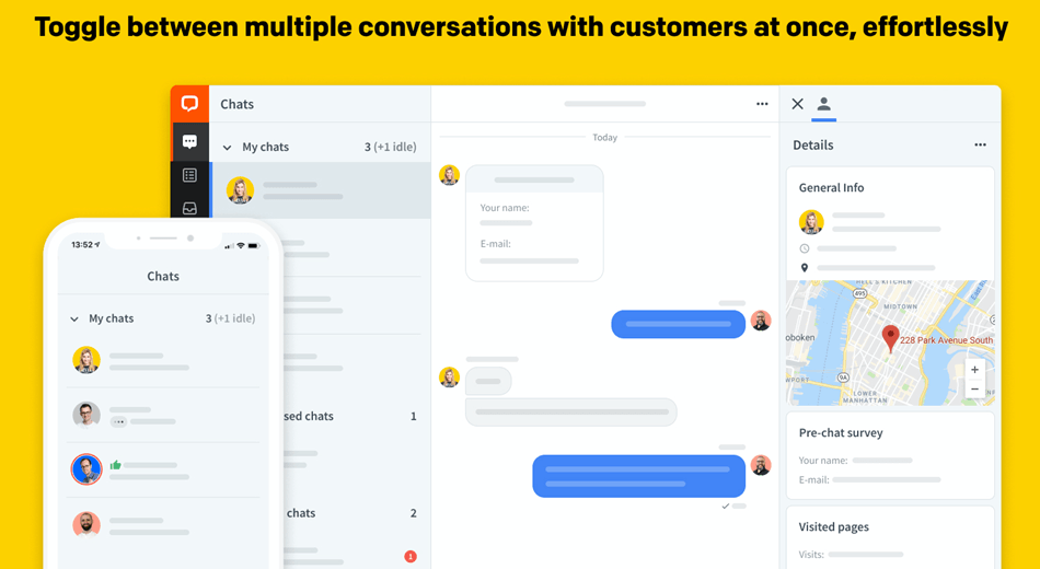Toggle Between Multiple Conversations With Customers At Once Effortlessly