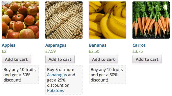 Volume Discount Coupons Description and Info Examples