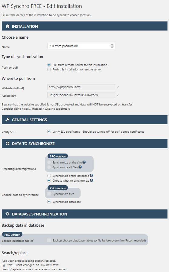WP Synchro Free, Setup, Add, Edit Or Install a Synchronization Job