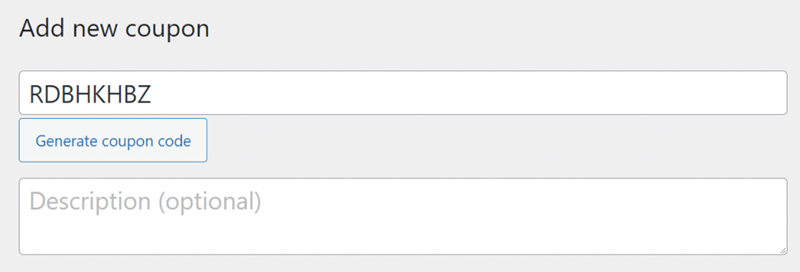 Wordpress dashboard coupons add new coupon