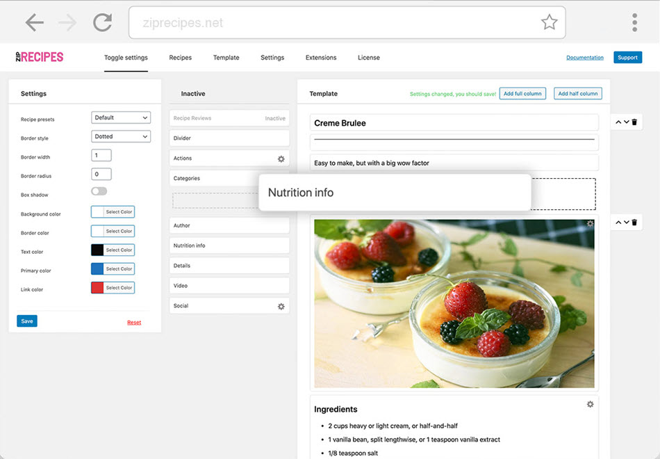 Zip Recipe Template Editor With Endless Possibilities Demo