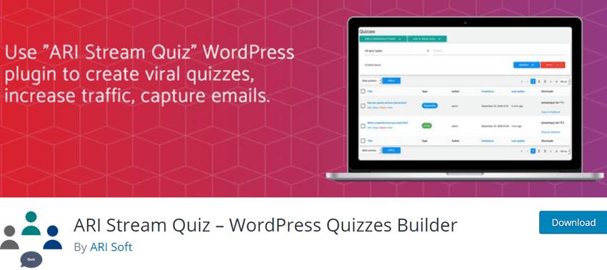 ARI Stream Quiz – WordPress Quizzes Builder Plugin