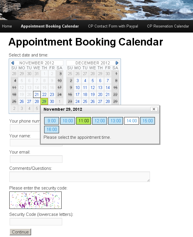 Appointment booking calendar wordpress plugin