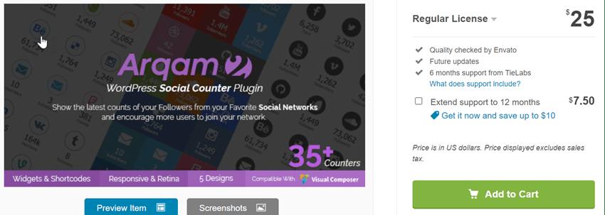 Arqam-Social-Counter-Plugin