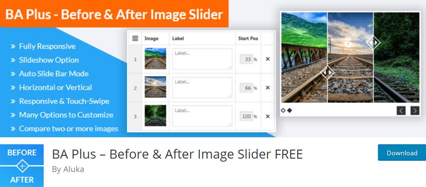 BA Plus – Before & After Image Slider FREE