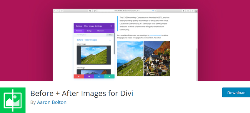 Before + After Images for Divi