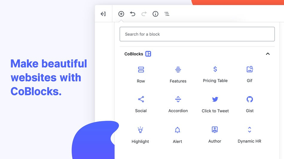 CoBlocks page builder gutenberg blocks make beautiful websites