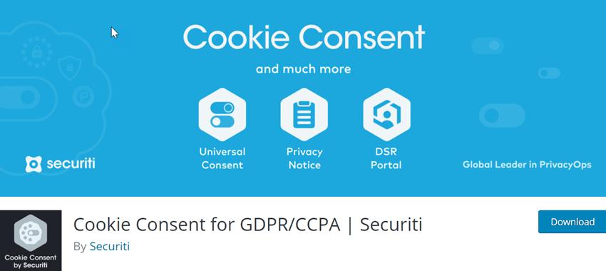 Cookie Consent for GDPRCCPA Securiti