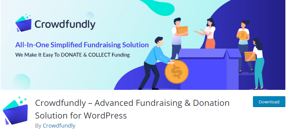 Crowdfundly advanced fundraising and donation solution for WordPress