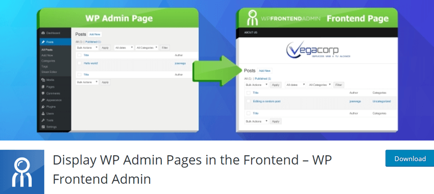 Display WP Admin Pages in the Frontend – WP Frontend Admin