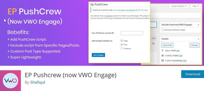 EP Pushcrew (now VWO Engage)