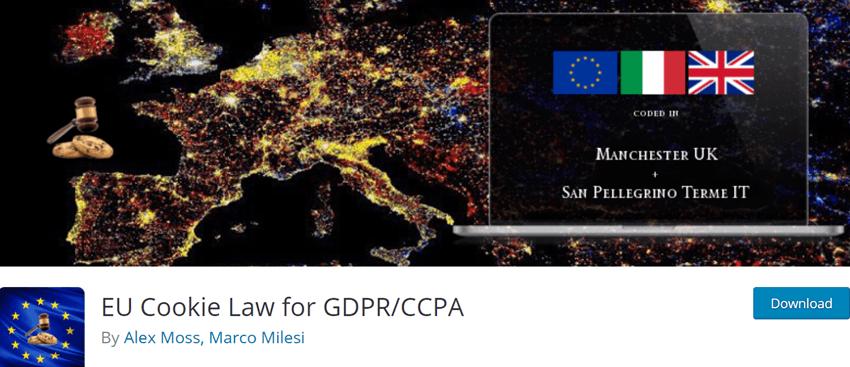 EU Cookie Law for GDPRCCPA