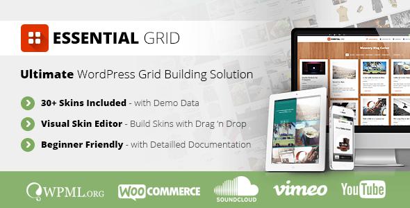 Essential grid gallery wordpress plugin by themepunch
