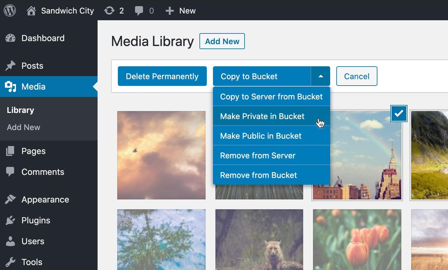 Feature Media Library