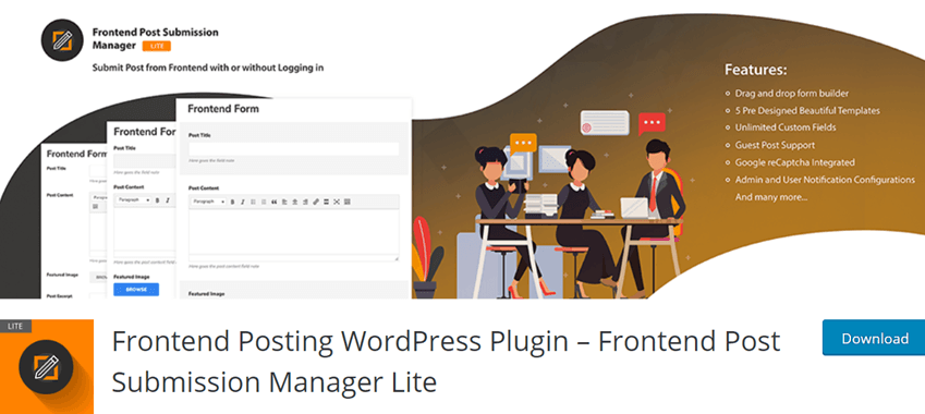 Frontend Posting WordPress Plugin – Frontend Post Submission Manager Lite