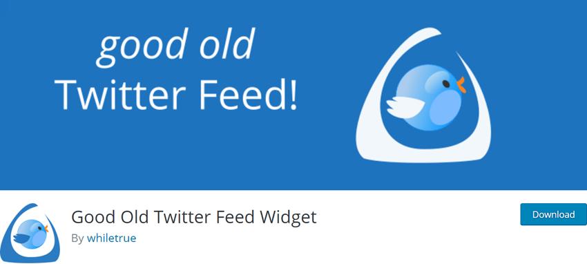 Good Old Twitter Feed Widget