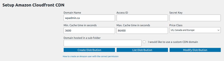 How To Setup Amazon CloudFront CDN Setting