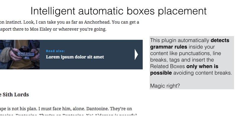 Inline related post wordpress plugin intelly line
