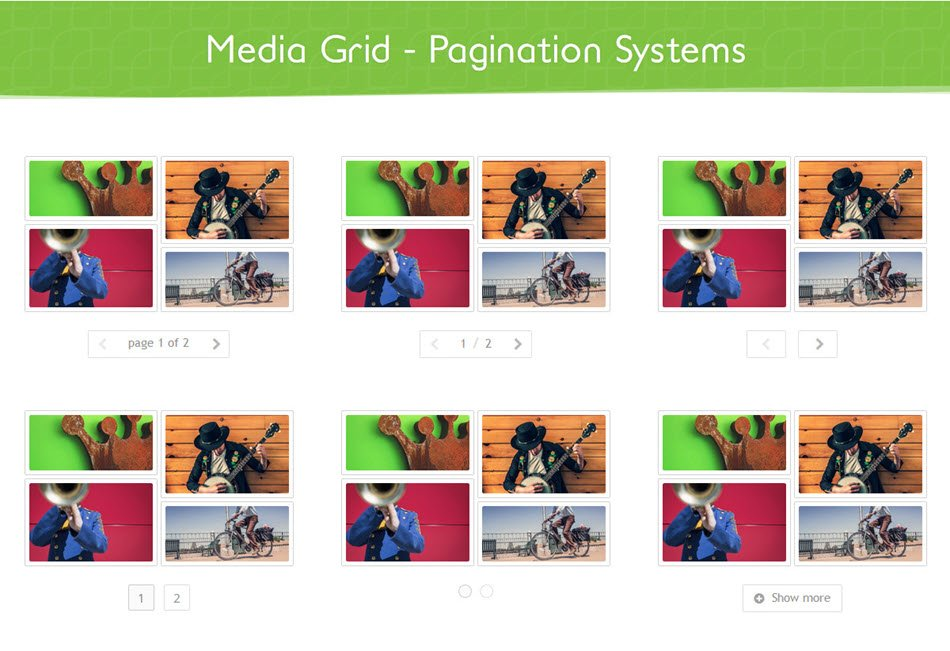 Media Grid WordPress responsive portfolio by GCWeb