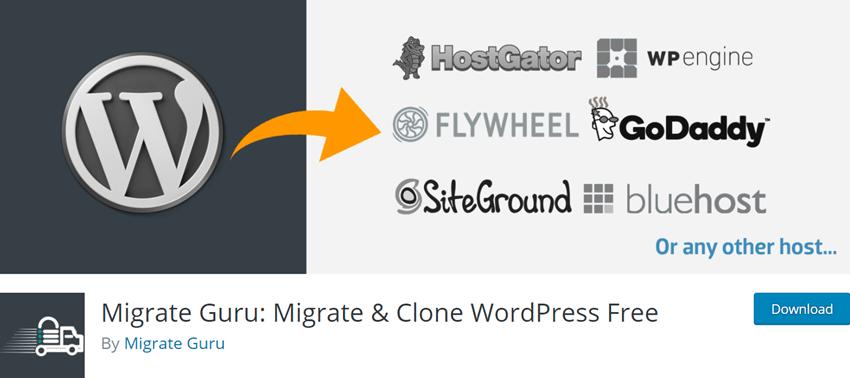 Migrate Guru Migrate & Clone WordPress Free